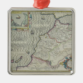 Antique Map of West Africa Christmas Ornament