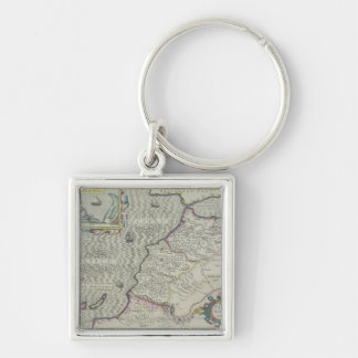 Antique Map of West Africa Key Ring