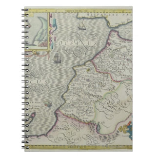 Antique Map of West Africa Note Book