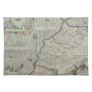 Antique Map of West Africa Place Mat