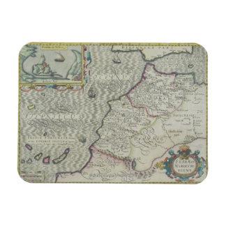 Antique Map of West Africa Rectangular Magnet