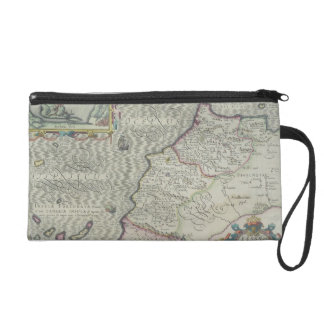 Antique Map of West Africa Wristlet Purses