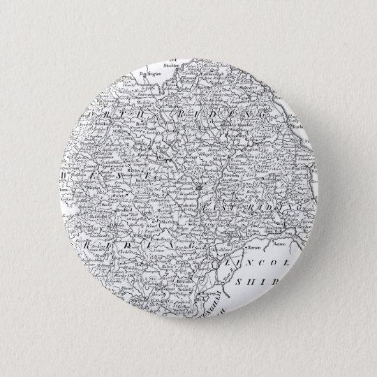 Antique Map of Yorkshire 1786 6 Cm Round Badge
