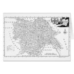 Antique Map of Yorkshire 1786 Greeting Card