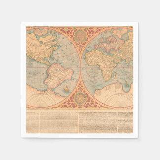 Antique Map - Orbis Terrae Compendiosa Descritio Disposable Serviette