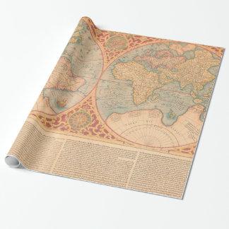 Antique Map - Orbis Terrae Compendiosa Descritio Wrapping Paper