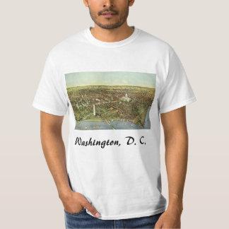 Antique Map, Panoramic View of Washington DC T-Shirt