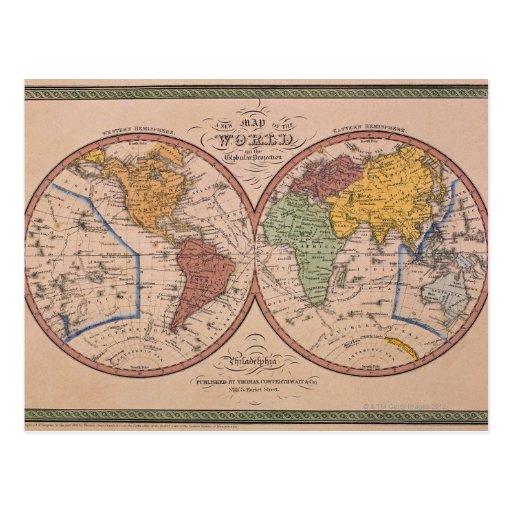 Antique Map Postcards