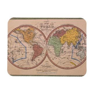 Antique Map Vinyl Magnet