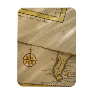 Antique map flexible magnet