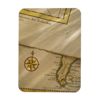 Antique map rectangular photo magnet