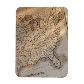 Antique map rectangular photo magnet