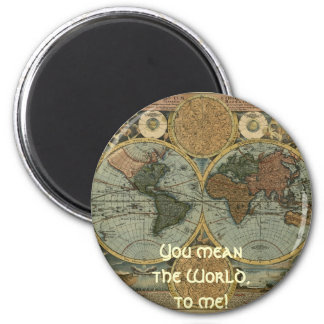 Antique Map Series 6 Cm Round Magnet