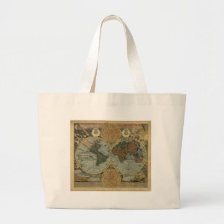 Antique Map Series Large Tote Bag