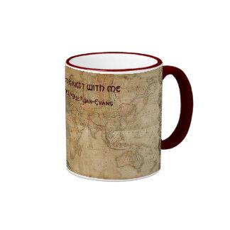 Antique Map Series Ringer Mug