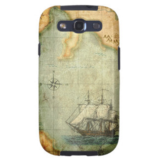 Antique Map & Ship Samsung Galaxy SIII Cases