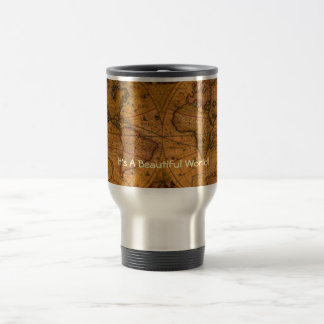 ANTIQUE MAP STAINLESS STEEL TRAVEL MUG