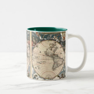ANTIQUE MAP Two-Tone COFFEE MUG
