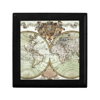 Antique Maps of the World Small Square Gift Box