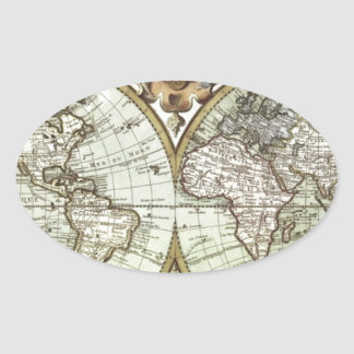 Antique Maps of the World Sticker