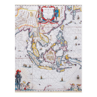 Antique Maps of the WorldMap of South East AsiaW 5 Postcard