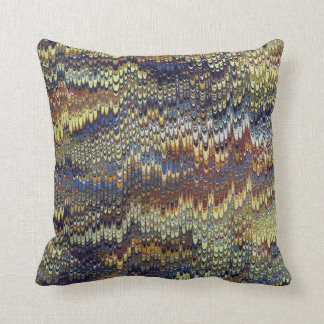 Antique Marbled Paper Cushion