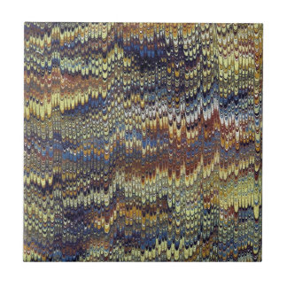 Antique Marbled Paper Small Square Tile