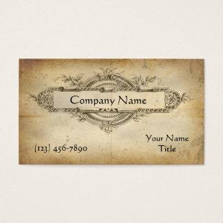 Antique medallion business card