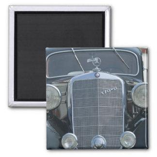 antique mercedes 2 square magnet