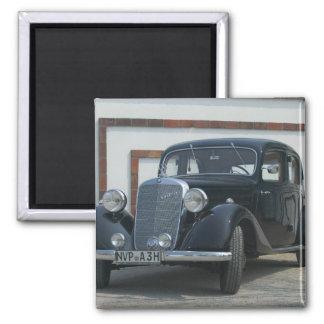 antique mercedes 3 square magnet