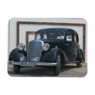 antique mercedes 3 rectangular photo magnet