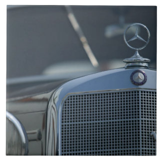 antique mercedes 4 large square tile