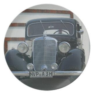 antique mercedes plate