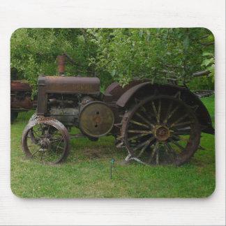 Antique Metal Wheel Tractors Mouse Mat