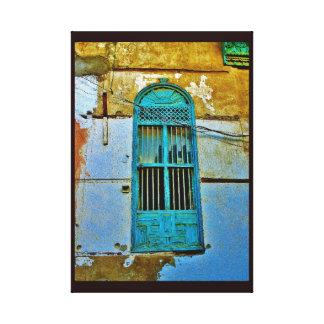 Antique Metal Window Canvas Print
