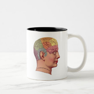 antique Mind Brain Map Phrenology head Coffee Mug