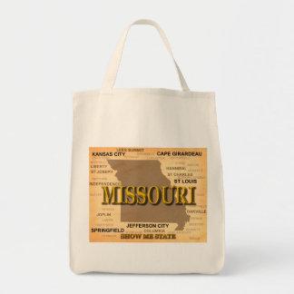Antique Missouri State Pride Map Silhouette Tote Bag