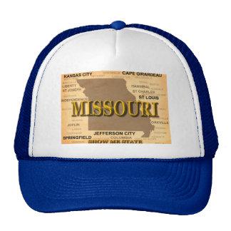 Antique Missouri State Pride Map Silhouette Cap