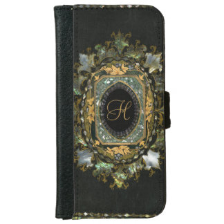 Antique Monogram Mother Of Pearl iPhone 6 Wallet Case