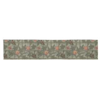 Antique Morris Trellis Wallpaper Short Table Runner