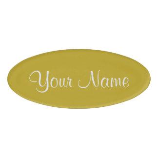 Antique Moss Name Tag