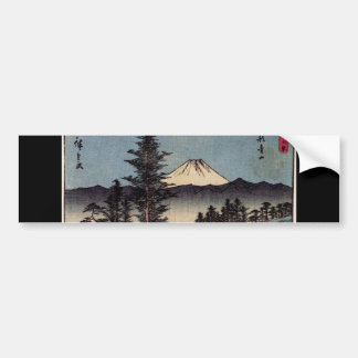 Antique Mt. Fuji Painting c. 1800s Japan Bumper Sticker