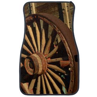Antique mule train wagon car mat