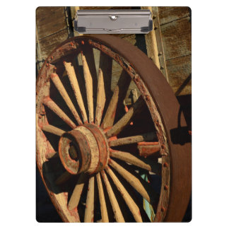 Antique mule train wagon clipboard