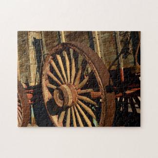 Antique mule train wagon jigsaw puzzle