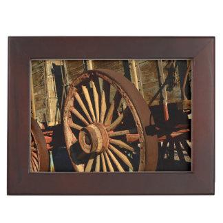 Antique mule train wagon keepsake box