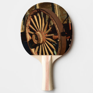 Antique mule train wagon ping pong paddle