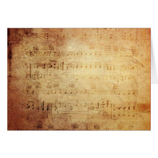Antique Music Card