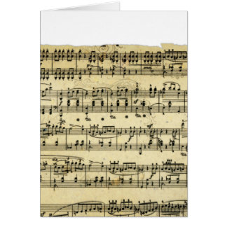 Antique Music score Greeting Card