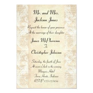 Antique Music Sheet Wedding Invitation
